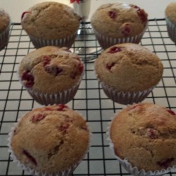 Lemon Cranberry Whole Wheat Muffins Recipe