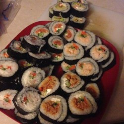 Cream Cheese and Crab Sushi Rolls Recipe