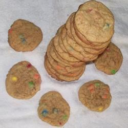 Peanut Butter Mini Candy-Coated Chocolates Cookies Recipe