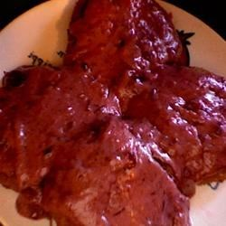 Turkey Patties with Cranberry Cream Sauce Recipe