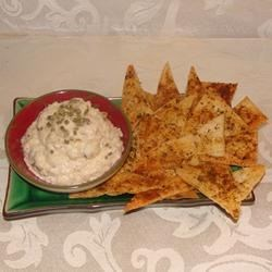 Crab Dip and Triangular Delights