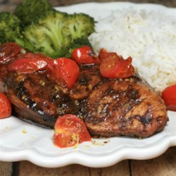 roasted balsamic chicken with baby tomatoes printer friendly