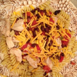 Black Bean and Corn Pasta with Chicken Recipe