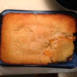 Lazy Peach Cobbler Recipe