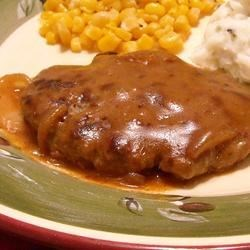 Hamburger Steak with Onions and Gravy Recipe