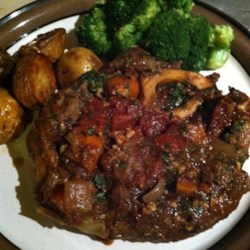 Braised Beef Shank with Wine and Tarragon Recipe
