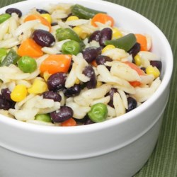 Seasoned Orzo and Black Beans Recipe