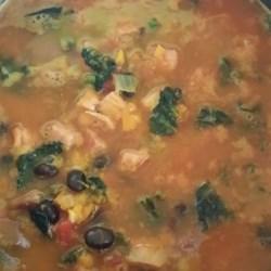 Pumpkin, Kale, and Black Bean Stew