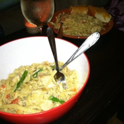 Chicken and Asparagus Fettuccine Recipe