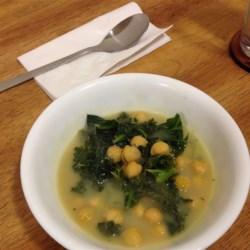 Vegan Kale and Chickpea Soup Recipe