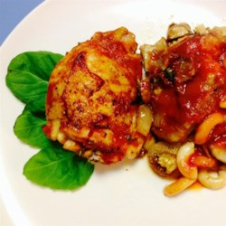 Chicken Marsala with Eggplant and Pasta Casserole Recipe