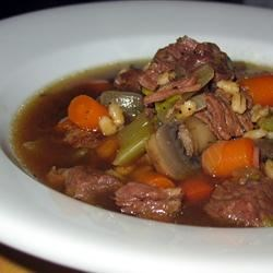 Photo of Beefy Mushroom Barley Soup by Karen Hemzacek