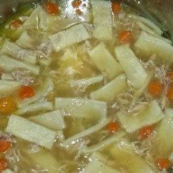 Grandma's Chicken Soup with Homemade Noodles Recipe