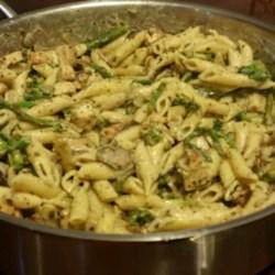 Penne with Creamy Pesto Sauce Recipe