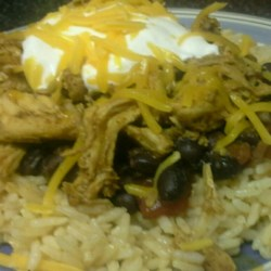 Fast Chicken Over Black Beans and Rice Recipe