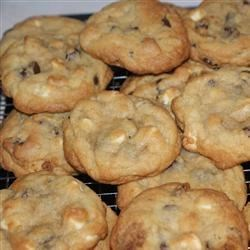 Chocolate chip cookies with white chocolate chips