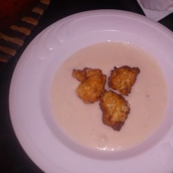 Cauliflower Soup with Blue Cheese Fritters  Recipe