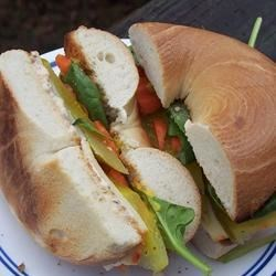 Photo of School Lunch Bagel Sandwich by VeggieLovinHippie