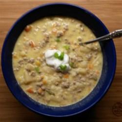 Cheeseburger Vegetable Soup Recipe