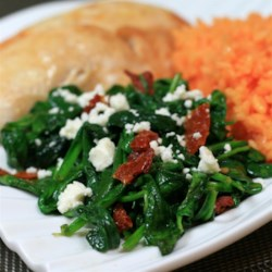 Christoph's Mediterranean Spinach and Sun Dried Tomato Dish Recipe