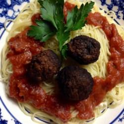 Spaghetti and Chipotle Meatballs Recipe