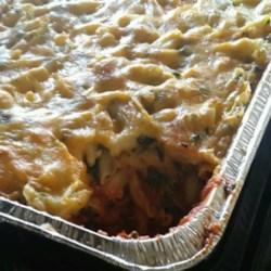 Cheryl's Spinach Cheesy Pasta Casserole Recipe