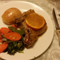 Orange Pork Chops with Tarragon Recipe