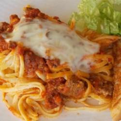 Aunt Barb's Spaghetti Pie Recipe