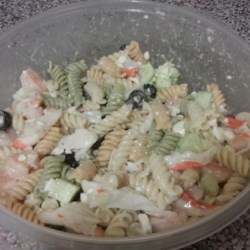 Crab and Shrimp Pasta Salad Recipe