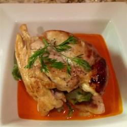 Chicken with Red Pepper Cream Sauce Recipe