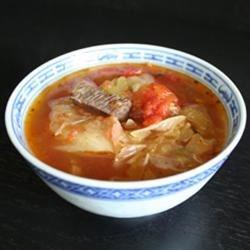 Healing Cabbag Soup (w/ pot roast)