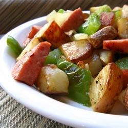 Kielbasa with Peppers and Potatoes