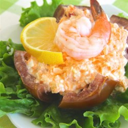 Tomatoes with Seafood Dressing