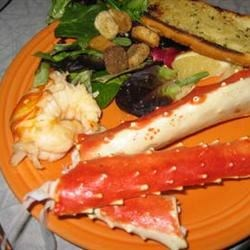 Our favorite Celebration dinner - King Crab & Lobster