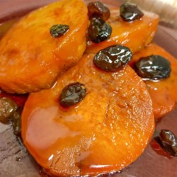 Sweet Potatoes with Brandy and Raisins Recipe