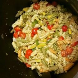 Roasted Veggie Pesto Pasta Salad Recipe