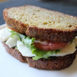 Smoked Mozzarella and Pesto Sandwich