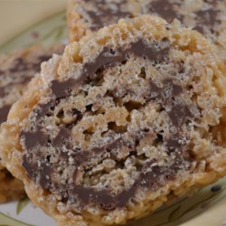 Crispy Peanut Butter Chocolate Log Recipe