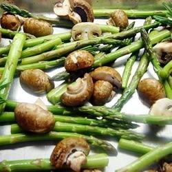 roasted asparagus and mushrooms photos