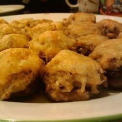 Fresh crab stuffed mushrooms