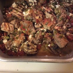 Mediterranean Chicken with Eggplant Recipe