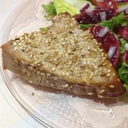 Sesame-Crusted Tuna with Summer Salsa Recipe