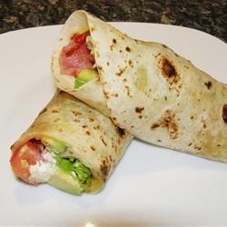 BLT wrap with avocado