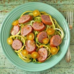 Smoked Sausage and Summer Squash Salad