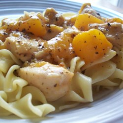 Byrdhouse Spicy Chicken and Peaches Recipe