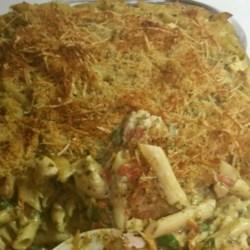 ... pesto chicken penne casserole a creamy one pan chicken pasta with