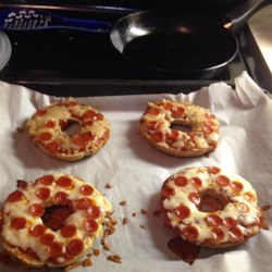 Easy Mini Bagel Pizzas Recipe