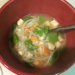 Chinese Shrimp and Tofu Soup Recipe