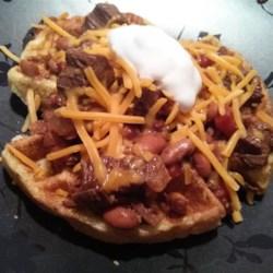 Trina's Beef Brisket Chili with Cornbread Waffles Recipe