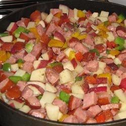 Kiebasa With Pepper and Potatoes